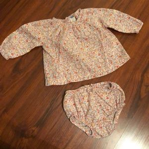 Peasant blouse and diaper cover